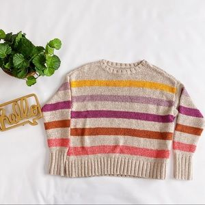 Lou & Grey Colorful Striped Sweater Lilac Mustard